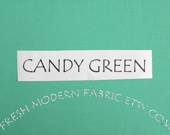 One Yard Candy Green Kona Cotton Solid Fabric from Robert Kaufman, K001-1061