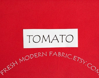 One Yard Tomato Kona Cotton Solid Fabric from Robert Kaufman, K001-7