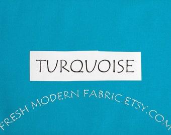 One Yard Turquoise Kona Cotton Solid Fabric from Robert Kaufman, K001-1376