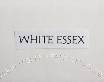 One Yard White Essex, Linen and Cotton Blend Fabric from Robert Kaufman, E014-1387