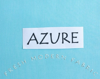 One Yard Azure Kona Cotton Solid Fabric from Robert Kaufman, K001 1009