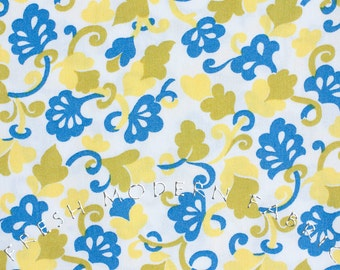 Half Yard Berkeley Toss in Blue, Yellow and Green by Alice Kennedy for Timeless Treasures, 100% Cotton Fabric