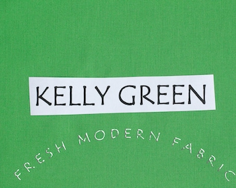HALF Yard Kelly Green Bella Cotton Solid Fabric from Moda, 9900 76