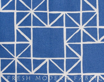 Half Yard Quilt Blocks Stars in Marine Blue, Ellen Luckett Baker, Moda Fabrics, 100% Cotton Fabric