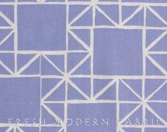 Half Yard Quilt Blocks Stars in Shade Periwinkle, Ellen Luckett Baker, Moda Fabrics, 100% Cotton Fabric