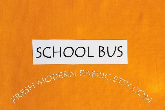 One Yard School Bus Kona Cotton Solid Fabric from Robert Kaufman, K001-1482