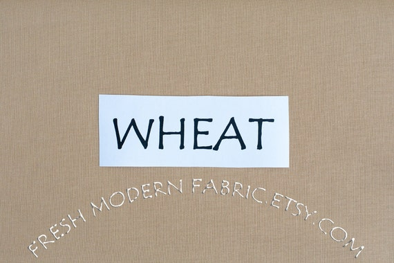 One Yard Wheat Kona Cotton Solid Fabric from Robert Kaufman, K001-1386