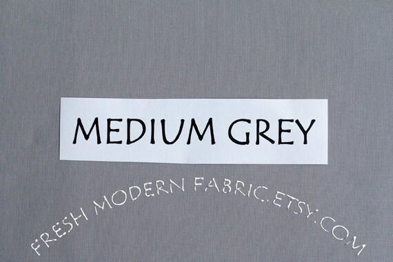 One Yard Medium Grey Kona Cotton Solid Fabric from Robert Kaufman, K001-1223