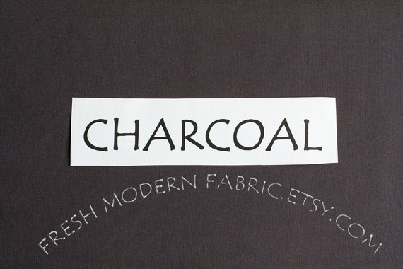 One Yard Charcoal Kona Cotton Solid Fabric from Robert Kaufman, K001-1071