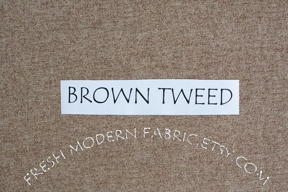 Half Yard Quilter's Tweed in Brown, Robert Kaufman, 100% Cotton Fabric