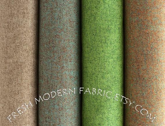Half Yard Bundle Quilter's Tweed in Brown, Cocoa, Grass and Fiesta, Robert Kaufman, 100% Cotton Fabric