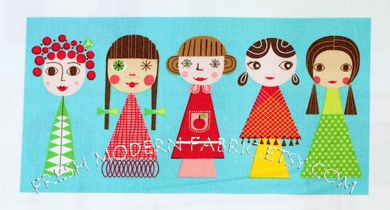 LAST PIECE One Yard Appleville Portraits, Appleville by Suzy Ultman for Robert Kaufman Fabrics, 100% Cotton Fabric