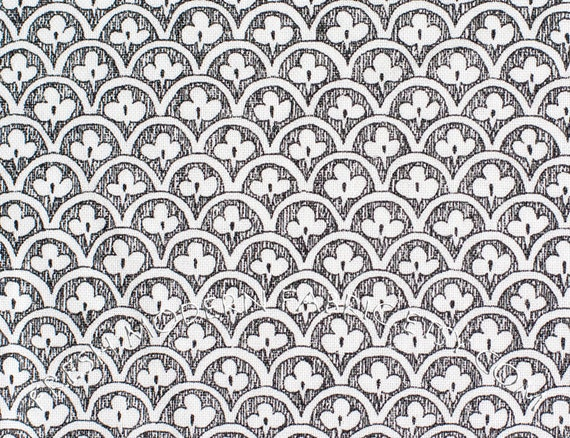 LAST PIECE Half Yard of a Ghastlie Clover in Natural, by Alexander Henry, 100% Cotton Fabric