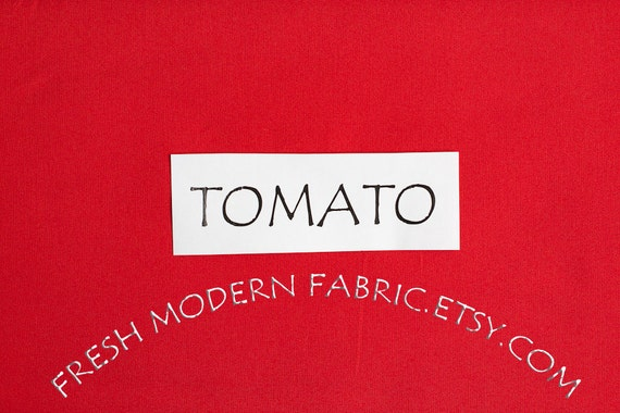 One Yard Tomato Kona Cotton Solid Fabric from Robert Kaufman, K001-7