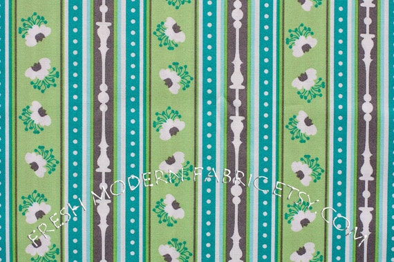 Half Yard Ticking Stripe, Peacock Lane, by Violet Craft for Michael Miller Fabrics, 100% Cotton Fabric