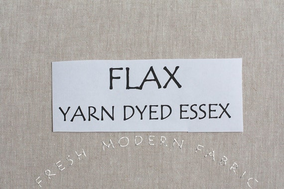 One Yard FLAX Yarn Dyed Essex, Linen and Cotton Blend Fabric from Robert Kaufman, E064-1143