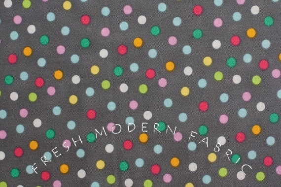Half Yard of Sweet on NYC Party Dots, by The Pixie Pops for Timeless Treasures, 100% Cotton Fabric