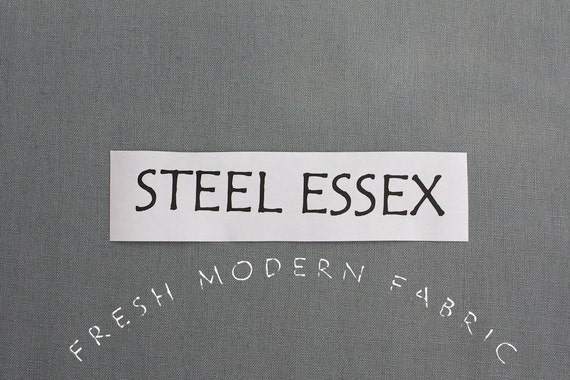 One Yard Steel Essex, Linen and Cotton Blend Fabric from Robert Kaufman, E014-91 STEEL
