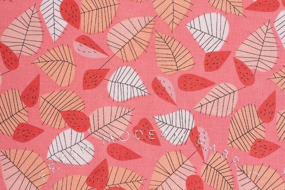 Half Yard Hello Pilgrim Berry Patch in Pink, Lizzy House for Andover Fabrics, 100% Cotton Fabric