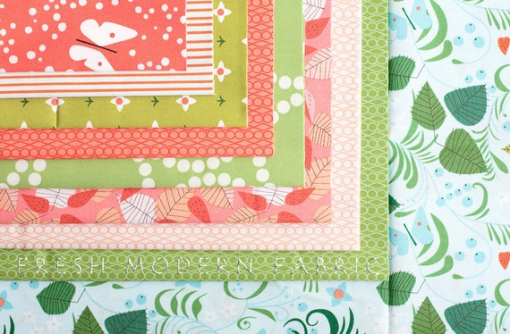 LAST AVAILABLE Half Yard Bundle Hello Pilgrim: The New World, Lizzy House for Andover Fabrics, 100% Cotton Fabric