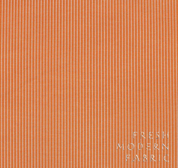 LAST PIECE Half Yard Punctuation Tutor Stripe in Orange, American Jane for Moda Fabrics, 100% Cotton Fabric