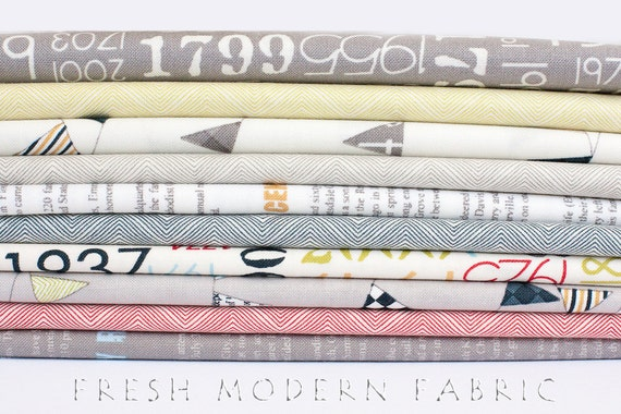 Fat Quarter Bundle Reunion, 10 Pieces, Sweetwater for Moda Fabrics, 100% Cotton Fabric