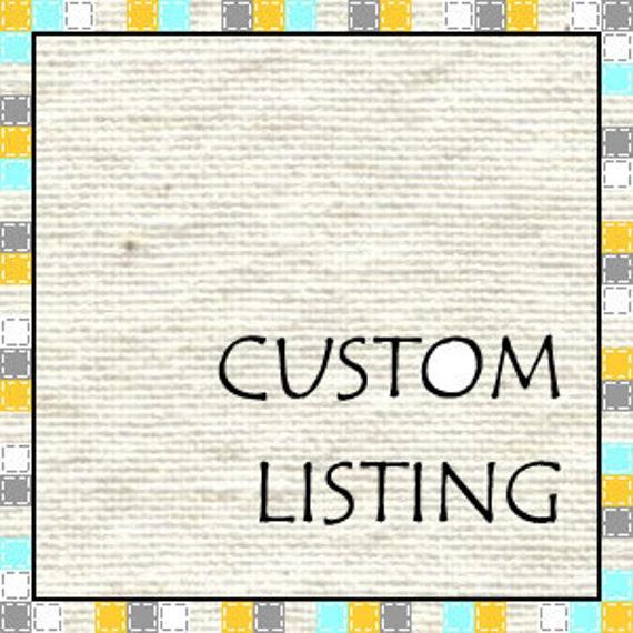 Custom Listing for Marjorie