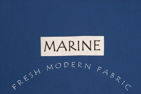 One Yard Marine Kona Cotton Solid Fabric from Robert Kaufman, K001-1218