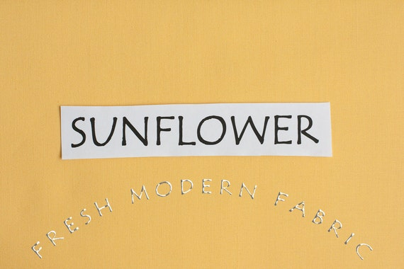 One Yard Sunflower Kona Cotton Solid Fabric from Robert Kaufman
