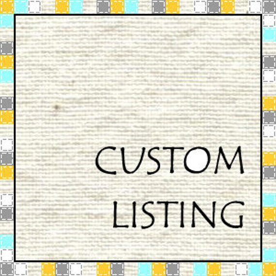 Custom Listing for sixstringpaper