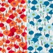 Half Yard Bundle Poppies in Orchid and Aqua, 100% Organic Cotton, Pick a Bunch by Nancy Mims for Mod Green Pod, Robert Kaufman Fabrics