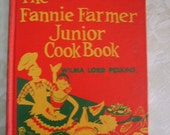 "Vintage Children's Book ""The Fannie Farmer Junior Cook Book"" 1957"