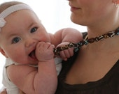 """ORGANIC """"Chic Chewelry"""" for mom and teething baby """"Sandy Beach"""""""