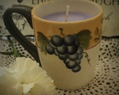Soy Wax Candle in a Coffee Mug-Lavender Scent