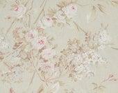 Rachel Ashwell Fabric Shabby Chic Beige Pink floral fabric 1 yard
