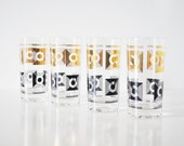 Mid-Century Black and Gold Tumblers