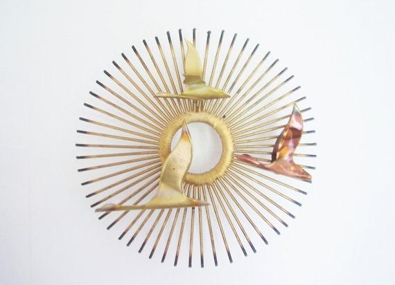 Mid-Century Sunburst Sculpture - Curtis Jere