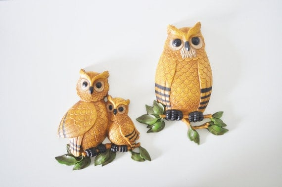 Owl Family Wall Hangings