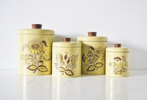 Ransburg Nesting Kitchen Canisters - Sunny Yellow