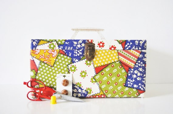 Large Patchwork Sewing Box