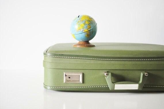 Avocado Green Wheary Suitcase