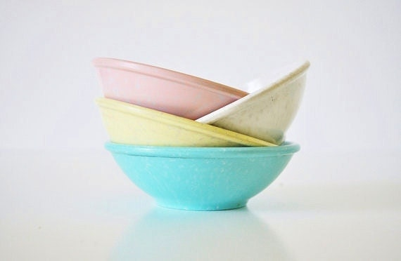Mid-Century Cafe Bowls - Eight Bowls