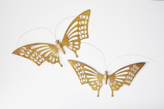 Brass Butterfly Wall Hangings