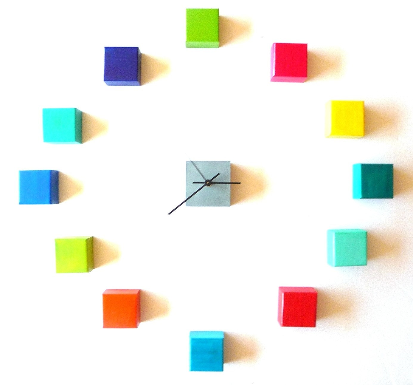 trendy modern wall clock clock cubes no cube clock by oneofatime with wall clocks modern