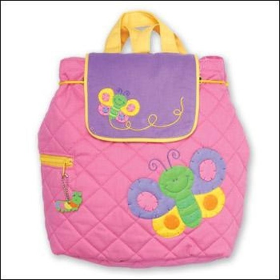 Stephen Joseph Pink & Purple Butterfly Backpack, Personalized for You