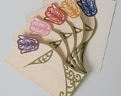 Cards: Tulips - set of 5