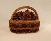 Pistillate Strobilus (Pine Cone) and Bryophyta (Moss) Basket