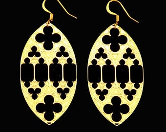 Six and Eight Gothic Earrings