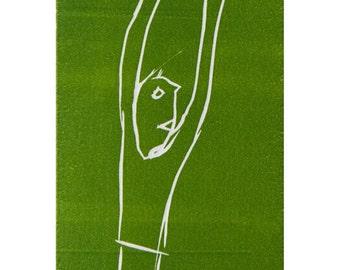 "Linoprint : ""Fruit of the tree"""