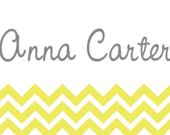 Chevron Stripe Name Cards/ Enclosure Cards